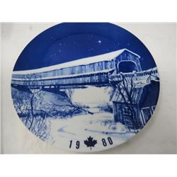 DECORATIVE PLATE (CANADA CHRISTMAS) *1980* (LIMITED EDITION)