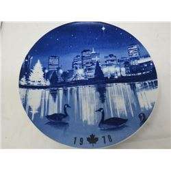 DECORATIVE PLATE (CANADA CHRISTMAS) *1978* (LIMITED EDITION)