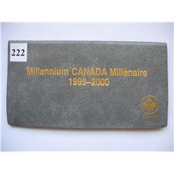 LOT OF 2 CANADIAN MILLENNIUM QUARTER SETS (1999 & 2000)