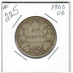 SILVER HALF DOLLAR  (CANADIAN) *1900*