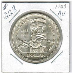 SILVER DOLLAR (CANADIAN) *1958, DEATH DOLLAR*