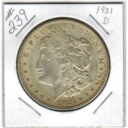 SILVER DOLLAR  (US MORGAN) *1921D*