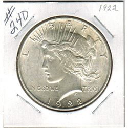 SILVER DOLLAR  (US MORGAN) *1922*
