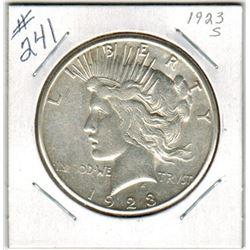 SILVER DOLLAR  (US PEACE) *1923S*