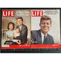 LOT OF 2 JFK LIFE MAGAZINES (1957 AND 1958)