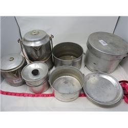 CAMPING SET (10 PIECES) *COFFEE POT, POTS, PANS, CUPS, ETC…*