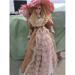 """PORCELAIN DOLL (WITH STAND) *APPROXIMATLY 40"""" TALL*"""