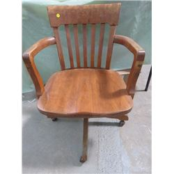 SWIVEL OFFICE CHAIR (ANTIQUE)