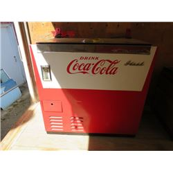 """CHEST TYPE COOLER (COCA-COLA) *35"""" X 36"""" X 20""""* (PLEASE NOTE BIDS WILL START AT $100 AND INCREASE IN"""
