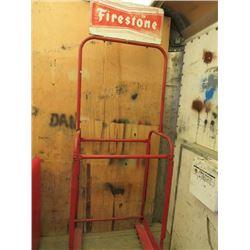 "TIRE RACK (FIRESTONE) *82"" X 27""*"