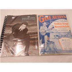 LOT OF 3 BOOKS (GENE AUTRY MUSIC, LEONARD COHEN MUSIC, 1950 WESTERN MAGAZINE)
