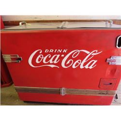"""CHEST TYPE COOLER (COCA-COLA) *36"""" X 42"""" X 26""""* (NOT RESTORED) *PLEASE NOTE BIDS WILL START AT $100"""