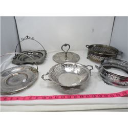 LOT OF 6 SILVER PLATED ITEMS
