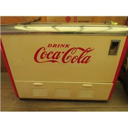 """CHEST TYPE COKE COOLER ( COCA-COLA) *RESTORED* (34"""" X 44"""" X 25"""")*PLEASE NOTE BIDS WILL START AT $100"""