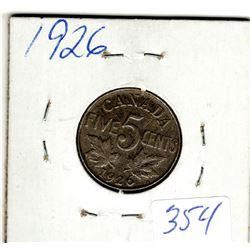 1926 NEAR 6 FIVE CENT