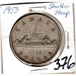 1953 SHOULDER STRAP SILVER DOLLAR