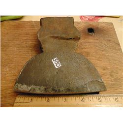 """PRIMITIVE ANTIQUE HAND FORGED? 6"""" BY 5 """" BROADHEAD AXE HEAD"""