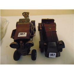 MODERN COLLECTOR TIN/STEEL CARS