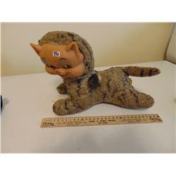 1940'S STUFFED CAT PLASTIC FACE