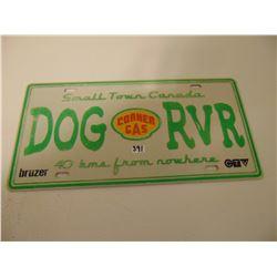 CORNER GAS DOG RIVER VINTAGE LICENCE PLATE