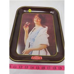 """COLA-COLA REPRODUCTION OF 1923 """"FLAPPER GIRL"""" TRAY"""
