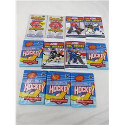 LOT OF 11 SEALED HOCKEY CARDS (FANTASY PACK, SCORE, O-PEE-CHEE)
