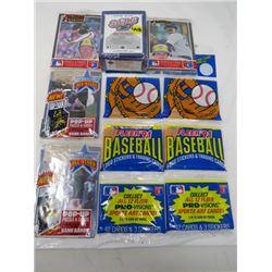 LOT OF 7 BASEBALL CARDS (UPPER DECK, MAJOR LEAGUE, ALL STARS, FLEER91 BASEBALL)