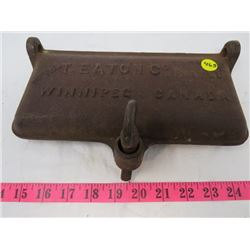 CAST IRON MOWER LID (THE T. EATON CO LIMITED) * WINNIPEG, CANADA*