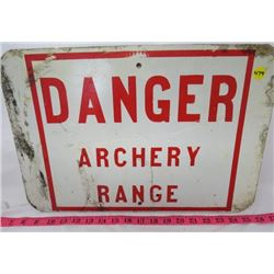 SIGN (DANGER ARCHERY RANGE)