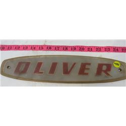 OLIVER PLASTIC DECAL