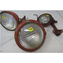 LOT OF 3 TRACTOR LIGHTS (VINTAGE)