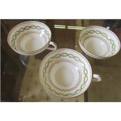 LOT OF 3 ROYAL DOULTON TEA CUPS (MADE FOR ROYAL DOULTON BY ROBERT ALLEN DESIGN STUDIO IN APRIL 1903)