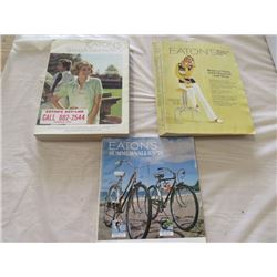 LOT OF 3 EATON'S CATALOGS (SPRING & SUMMER 1972) *SUMMER 1974* (SPRING AND SUMMER 1975)
