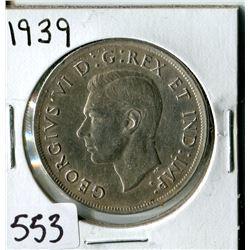 SILVER DOLLAR (CANADA) * 1939*