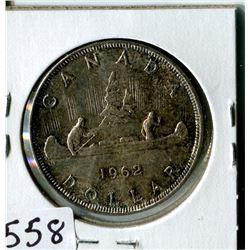 SILVER DOLLAR (CANADA) * 1962*