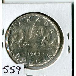 SILVER DOLLAR (CANADA) * 1963*