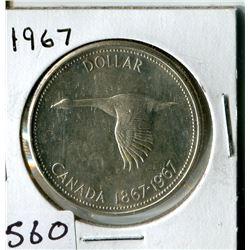 SILVER DOLLAR (CANADA) * 1967*
