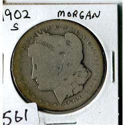 SILVER DOLLAR (USA MORGAN) * 1902S*