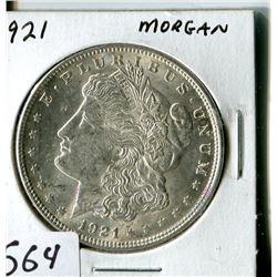 SILVER DOLLAR (USA MORGAN) * 1921*