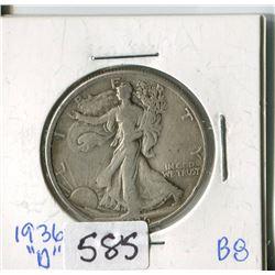 FIFTY CENT COIN (USA) * 1936D*