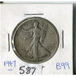 FIFTY CENT COIN (USA) * 1947*