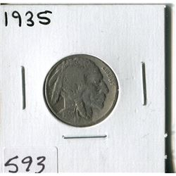 5 CENT COIN (USA, INDIAN HEAD) *1935*