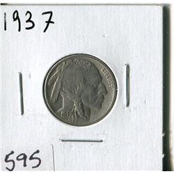 5 CENT COIN (USA, INDIAN HEAD) *1937*