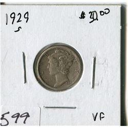 TEN CENT COIN (USA, MERCURY) *1929S*