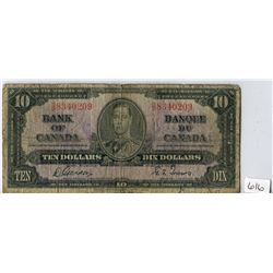 TEN DOLLAR NOTE (BANK OF CANADA) *1937*