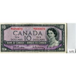 TEN DOLLAR NOTE (BANK OF CANADA) *1954*