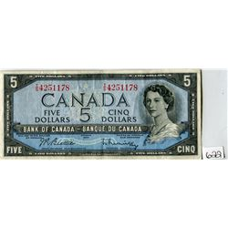 FIVE DOLLAR NOTE (BANK OF CANADA) *1954*