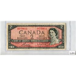 TWO DOLLAR NOTE (BANK OF CANADA) *1954*
