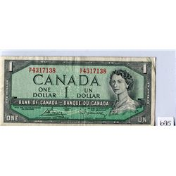 ONE DOLLAR NOTE (BANK OF CANADA) *1954*