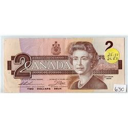 TWO DOLLAR REPLACEMENT NOTE (BANK OF CANADA) *1986*